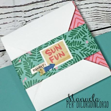 DCIC - Kit DT Manuela - MINIALBUM con Envelope Punch Board
