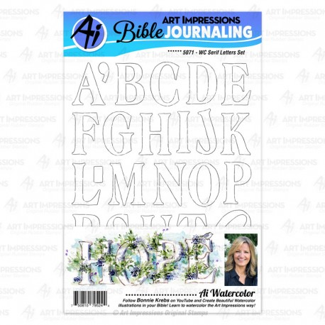 Art Impression - Timbro Clear - WC Serif Letters Set