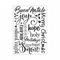 Tommy Art - Stencil - Buon Natale formato A4