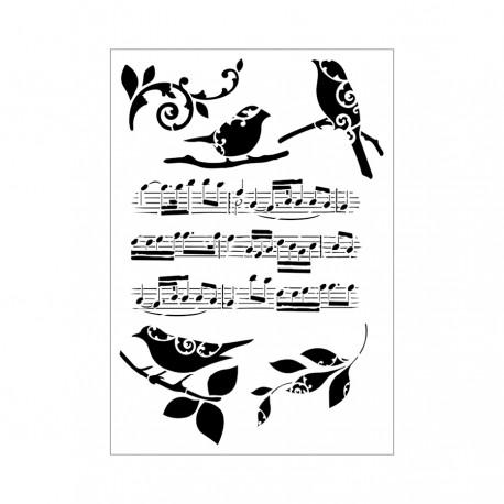 Tommy Art - Stencil - Note Musicali formarto A4
