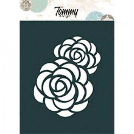 Tommy Design - Stencil - Peonia A6