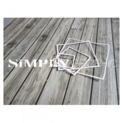 Simply Graphic - Fustella - Cadres Carrés Fins Irréguliers