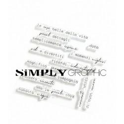 Simply Graphic - Timbri Clear - Le Cose belle della vita