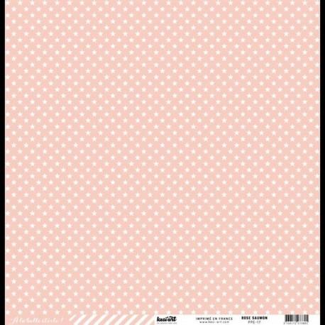 Cartoncino étoile cardstock - ROSE SAUMON