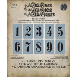 Embossing Folder Sizzix Numbers set Tim Holtz