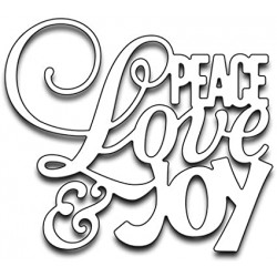 Penny Black - Fustella - Peace Love and Joy