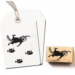 Cats on appletrees - Timbro Legno - Swimming Racoon Mats 2517