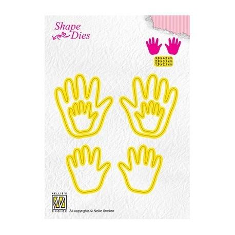 Nellie Snellen - Fustella - 3x Baby hands