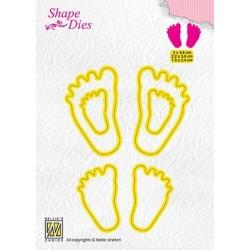 Nellie Snellen - Fustella - 3x Baby feet