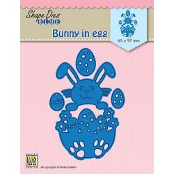Nellie Snellen - Fustella - Easter bunny in egg