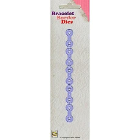 Nellie Snellen - Fustella - Bracelet Border circles