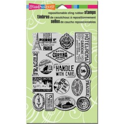 Stampendous  - Timbri cling - Luggage Labels