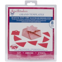 Spellbinders - Fustella - Hexagon Pinwheel Top Box