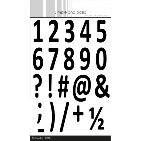 Simple and Basic - Fustella - Numbers XXL