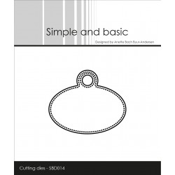 Simple and Basic - Fustella - Pierced Oval Tag