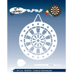 By Lene Dies - Fustella - Dartboard & Arrows