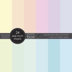 Memory Box - Paper Pad 6x6 - Delicate Pastel Glitter