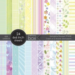 Memory Box - Paper Pad 6x6 - Sprintime Bouquet