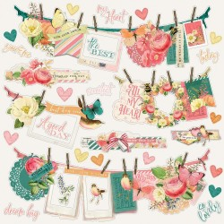 "Simple Stories - Stickers 12x12""- Simple Vintage Garden District"