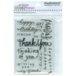 Stampendous - Timbri clear - Happy Messages