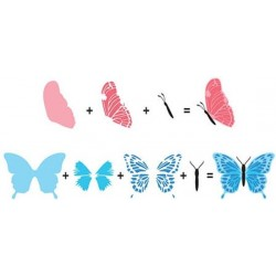 Hobby Solution - Timbri Clear - 3D Butterflies