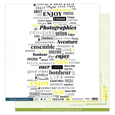 "Florileges Design - Carte 12x12"" - Yellow 2"