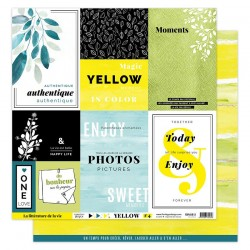"Florileges Design - Carte 12x12"" - Yellow 4"