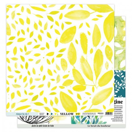 "Florileges Design - Carte 12x12"" - Yellow 7"