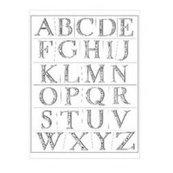 Plaid - Timbri Clear - Elegant Engraving Alphabet