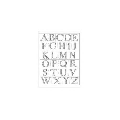 Plaid - Timbri Clear - Elegant Engraving Alphabet