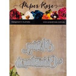 Paper Rose- Fustella - Christmas Large