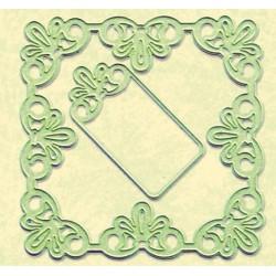 Leane Creatif - Fustella - Frame Square Lace