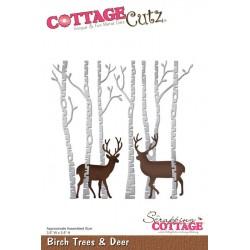 Cottage Cutz - Fustella - Birch Trees & Deer