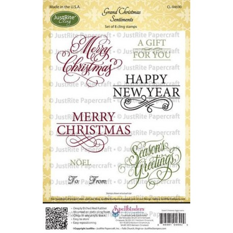 JustRite - Timbri Cling - Grand Christmas Sentiments