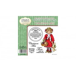 PaintBox Poppets - Timbri Cling - Christmas Miss