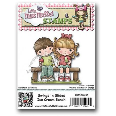Little Miss Muffet - Timbri Cling - Ice Cream Bench