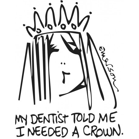 Gourmet Rubber - Timbri Cling - I need a Crown