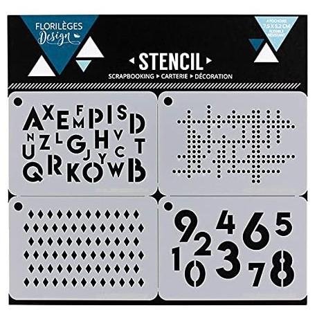 Florileges Design - Stencil - Des Chiffres et des lettres