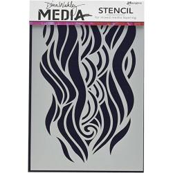 Dina Wakley - Stencil - Midghty Wave