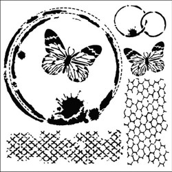 TCW - Stencil - Butterfly Cottage