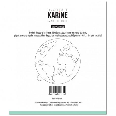 Les Ateliers de Karine - Stencil - Mappemonde