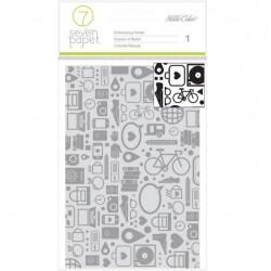 Seven Paper - Embossing Folder - Amelia