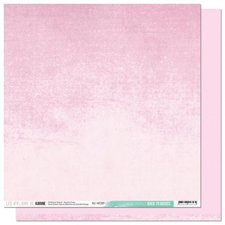 """Les Ateliers de Karine - Carta 12x12"""" - Rose Pastel"""