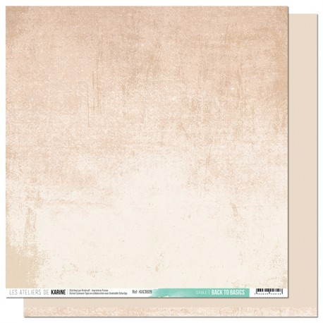 """Les Ateliers de Karine - Carta 12x12"""" - Sable"""