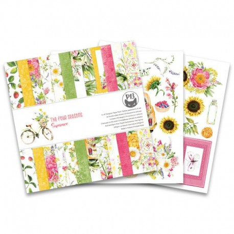 PIATEK13 -  Paper Pad - The Four Seasons - Summer 6x6""