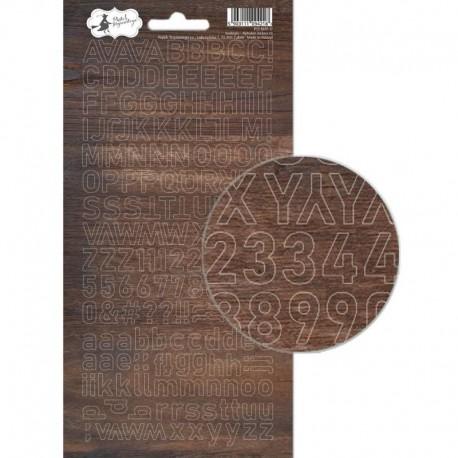 PIATEK13 - Alphabet sticker sheet -  Soulmate 01