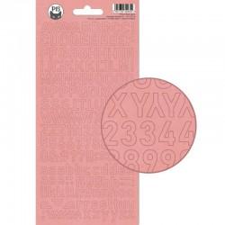 PIATEK13 - Alphabet sticker sheet -  Till we meet again 01