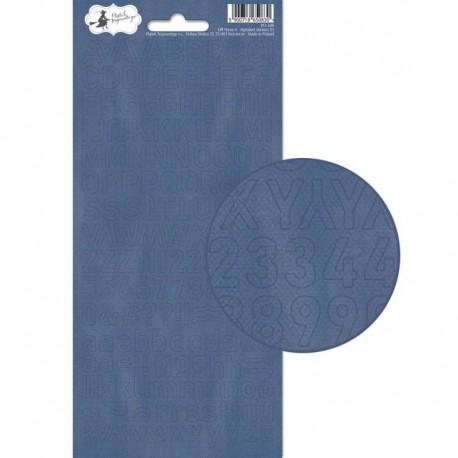 PIATEK13 - Alphabet sticker sheet - Off Shore II 01