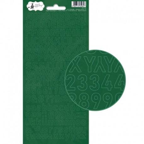 PIATEK13 - Alphabet sticker sheet - Let's Flamingle 01
