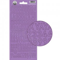 PIATEK13 - Alphabet sticker sheet - Girl Gang 01